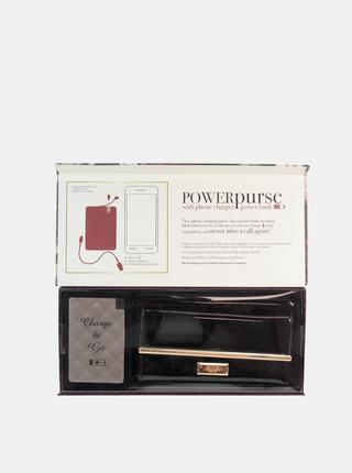 Čierna dámska peňaženka s powerbankou Something Special