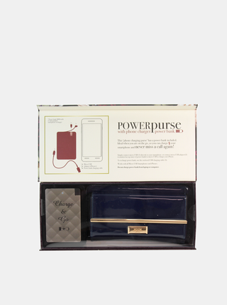 Modrá dámská peněženka s powerbankou Something Special