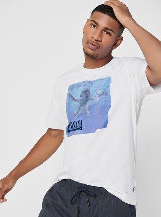 Bílé tričko ONLY & SONS Nirvana