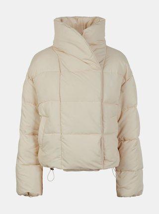 Krémová zimní prošívaná bunda Pieces Sazel