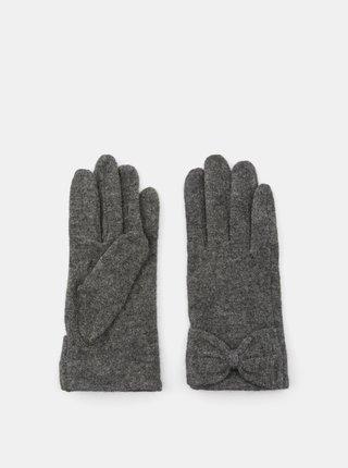 Šedé vlnené rukavice Pieces Sulva