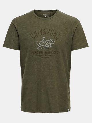 Khaki tričko ONLY & SONS