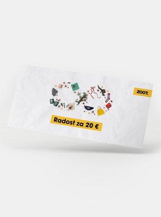 Vianočný darčekový poukaz na ZOOT v hodnote 20 EUR