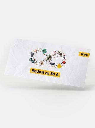 Vianočný darčekový poukaz na ZOOT v hodnote 50 EUR