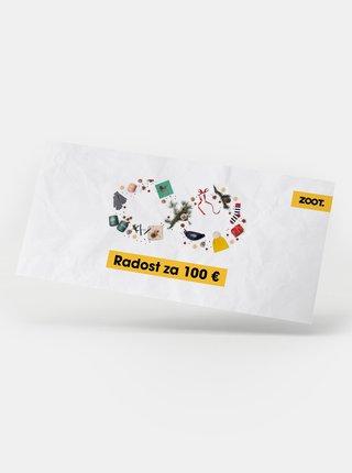 Vianočný darčekový poukaz na ZOOT v hodnote 100 EUR