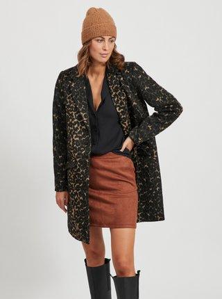 Tmavozelený vzorovaný kabát VILA