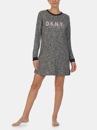 Šedá žíhaná noční košile DKNY