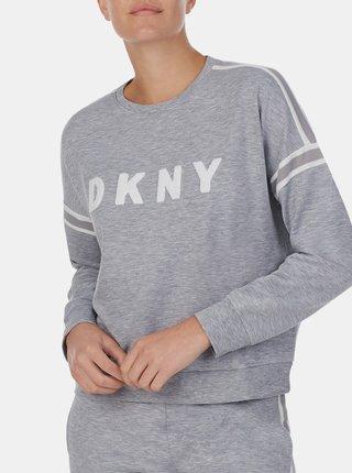 Šedé tričko DKNY