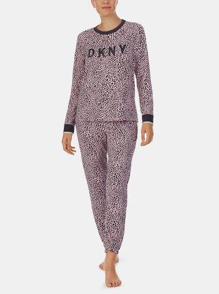 Růžové vzorované pyžamo DKNY