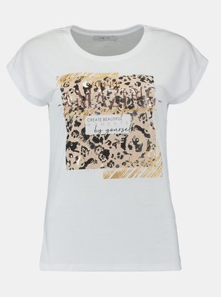 Biele tričko s potlačou Hailys