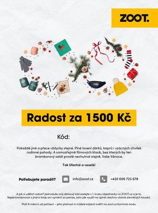 Vánoční elektronický poukaz na ZOOT v hodnotě 1 500 Kč