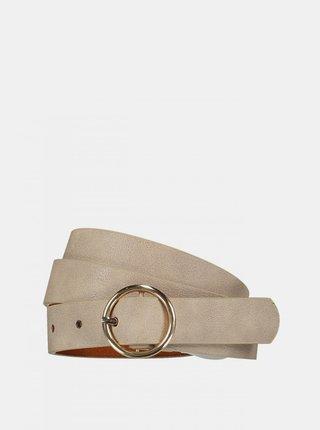 Béžový kožený pásek Hailys