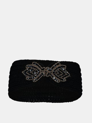 Čierna čelenka s ozdobným detailom Hailys