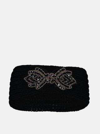 Černá čelenka s ozdobným detailem Hailys