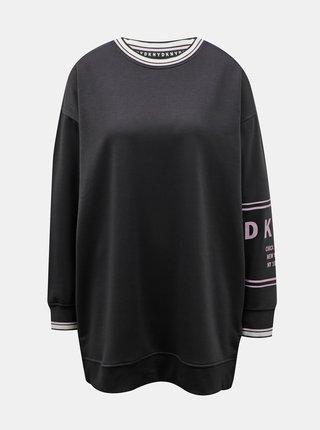 Černá dlouhá mikina DKNY