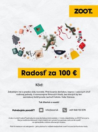 Vianočný elektronický poukaz zo ZOOTu v hodnote 100 €