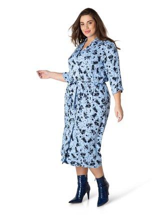 Yesta modré košilové šaty Hedda
