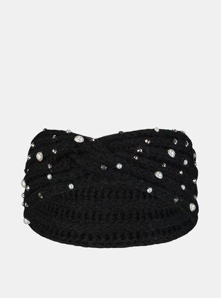 Čierna čelenka s flitrami Hailys