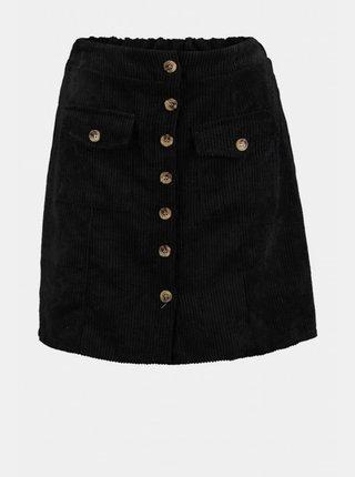 Čierna menčestrová sukňa Hailys