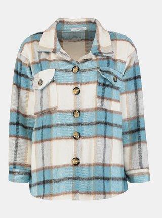 Modro-krémová kockovaná košeľa Hailys