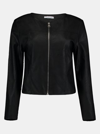 Čierna koženková bunda Hailys