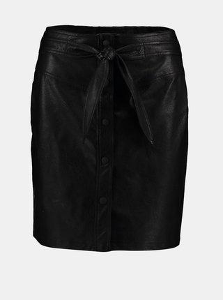 Čierna koženková sukňa Hailys
