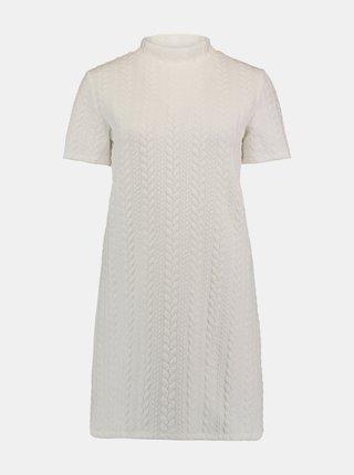Bílé šaty se stojáčkem Hailys