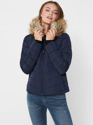 Modrá zimní prošívaná bunda ONLY Newellan
