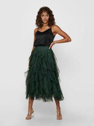 Tmavě zelená sukně ONLY Sky