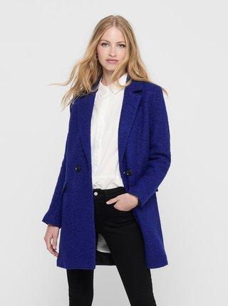 Modrý vlnený kabát ONLY New