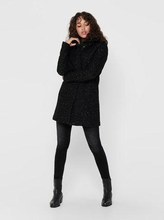 Černý vlněný zimní kabát ONLY New Sedona