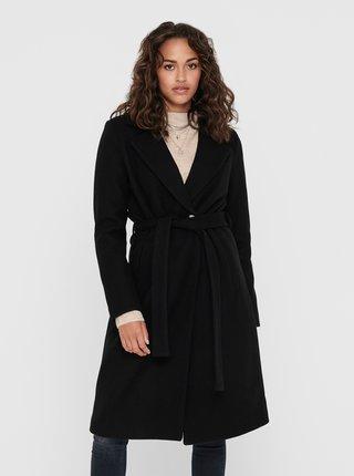 Čierny vlnený kabát ONLY Gina