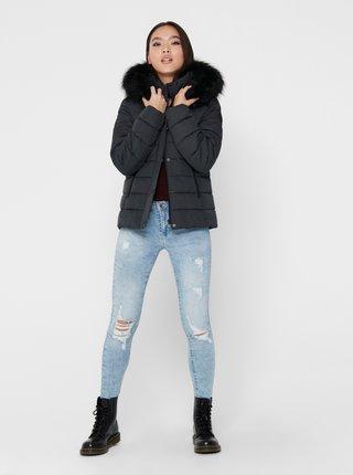 Šedá zimní prošívaná bunda ONLY Luna