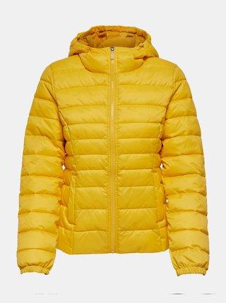 Žlutá zimní prošívaná bunda ONLY New Thaoe