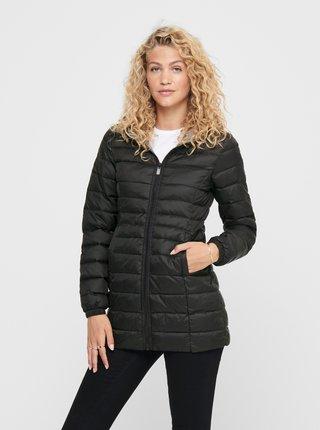 Černý zimní prošívaný kabát ONLY New Thaoe
