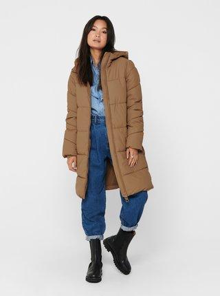 Béžový zimní kabát ONLY Sienna