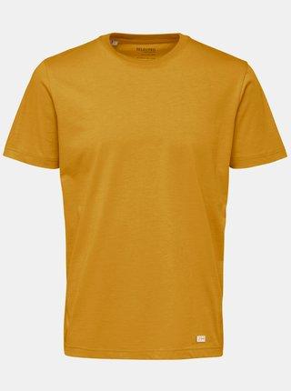 Žluté basic tričko Selected Homme