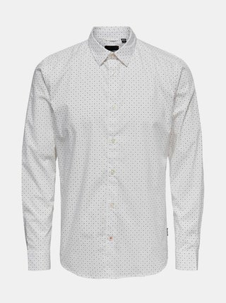 Biela košeľa ONLY & SONS Bart