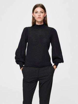 Černá vlněná halenka Selected Femme