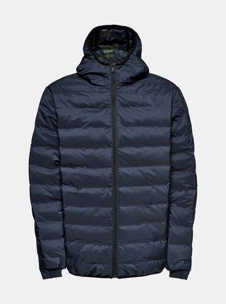 Modrá zimná prešívaná bunda ONLY & SONS