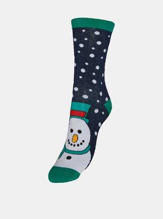 Modré ponožky s vánočním motivem VERO MODA