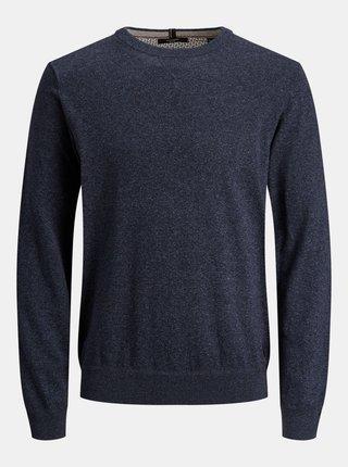 Modrý svetr s příměsí kašmíru Jack & Jones