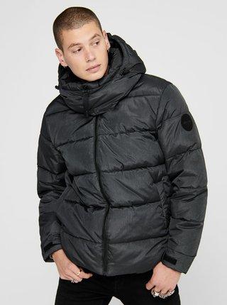 Tmavomodrá zimná prešívaná bunda ONLY & SONS