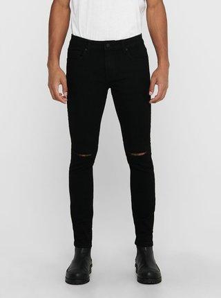 Černé skinny fit džíny ONLY & SONS Warp