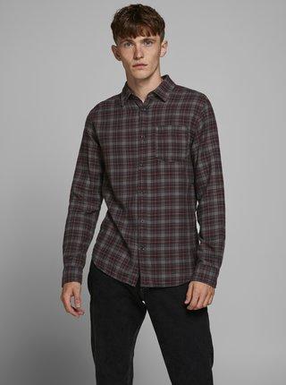 Šedá károvaná košeľa Jack & Jones
