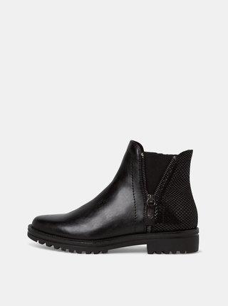 Černé dámské chelsea boty Tamaris