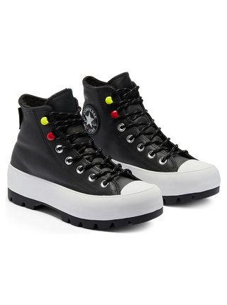 Converse gore-tex kožené tenisky na platformě Chuck Taylor All Star Lugged Winter Black