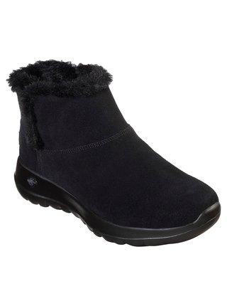 Skechers černé zimní boty On The Go Joy Bundle Up s kožíškem