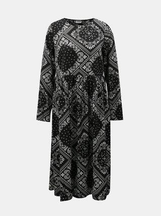 Černé vzorované šaty Noisy May Paise