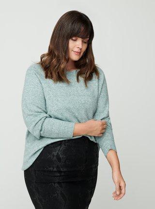 Svetlozelený sveter Zizzi